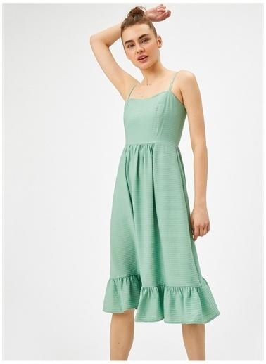 Koton Koton Mint Elbise Yeşil
